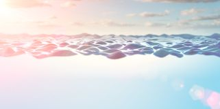Close up image of clear and blue water stock image