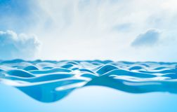 Close up image of clear and blue water stock photos