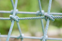 Close up image of climbing net for childrens. Royalty Free Stock Images
