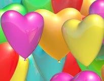 Heart balloons royalty free illustration