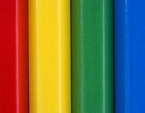 Close up image of colourful pencils. Colourful close up vertical pattern of childrens pencils Stock Photography