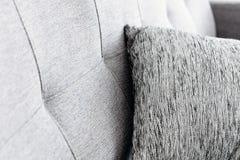 Cushion on sofa. Close up image of Cushion on sofa royalty free stock image