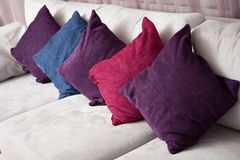 Close up image of decorative colorful pillow Stock Photos