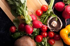 Close up image of different delicious fresh and healthy vegetabl Stock Photography