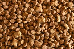 Dry Cat Food Close Up royalty free stock image