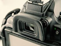 Close-up image of DSLR camera. close-up viewfinder. For photography using royalty free stock images