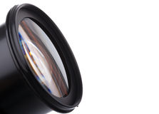 Close-up image of a DSLR lens Stock Photo