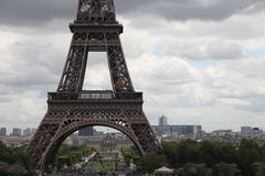Close up image of Eiffel Tower, Paris, France Stock Photography