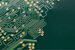 Close up Image of Electronic Circuit Board. Computer Technology Concept Background Royalty Free Stock Image
