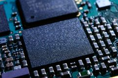 Close up Image of Electronic Circuit Board with Processor Stock Photography