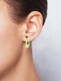 Close up image of female ear with earring Royalty Free Stock Image