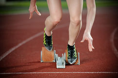 Close-up image of a female runner Stock Photo