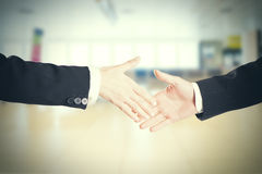 Close-up image of a firm handshake standing for a trusted partnership Royalty Free Stock Images