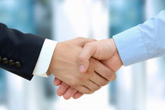 Close-up image of a firm handshake  between two colleagues Stock Photos