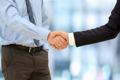 Close-up image of a firm handshake  between two colleagues outsi Stock Image