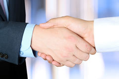 Close-up image of a firm handshake  between two colleagues outsi Stock Images