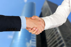 Close-up image of a firm handshake  between two colleagues Stock Photography