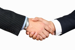 Close-up image of a firm handshake  between two colleagues on a Royalty Free Stock Image