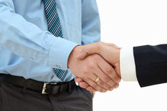 Close-up image of a firm handshake  between two colleagues on a Stock Photography