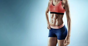Close up image of fitness female Royalty Free Stock Photos