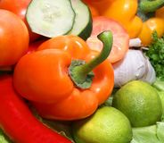 Close-up image of fresh and tasty vegetables Royalty Free Stock Image