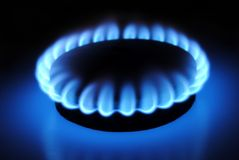 Gas burner. Close- up image of a gas burner Royalty Free Stock Images
