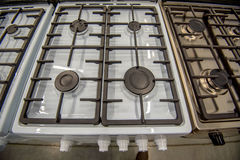 Close-up image of gas stove Stock Photography