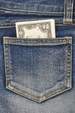 Close-up image of the money in your pocket. Stock Photos