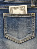 Close-up image of the money in your pocket. Royalty Free Stock Photos