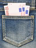 Close-up image of the money in your pocket. Stock Images