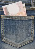 Close-up image of the money in your pocket. Royalty Free Stock Photography