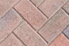 Close Up Image Of Red Block Paviors Royalty Free Stock Images