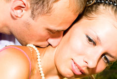 Close-up Image Of Young Kissing Couple Royalty Free Stock Photo