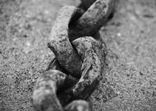 Close-up image of an old rusted chain royalty free stock photo