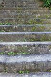 Old stone steps on a hillside in Japan royalty free stock image