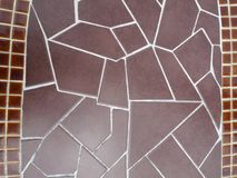 Close up image of paving brown bricks Royalty Free Stock Photo