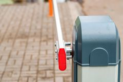 Road barrier close up royalty free stock image
