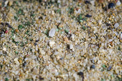 Close-up image of sand on football field Royalty Free Stock Photos