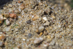 Close-up image of sand on football field Stock Photo
