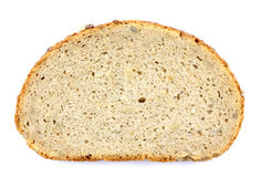 Close up image of slice of bread on against white background. Stock Photo