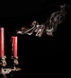 Close up image of smoke candle Stock Image