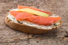 Close up image of some refreshment with salmon Stock Image