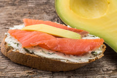Close up image of some refreshment with salmon Royalty Free Stock Image