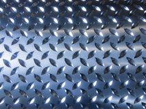 Close up image of Steel checker plate metal sheet texture backgr Royalty Free Stock Photo