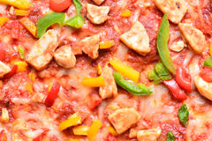 Close up image of a tasty bbq pizza royalty free stock images