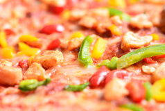 Close up image of a tasty bbq pizza stock photos