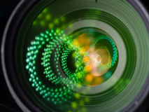 Close up image of a telephoto DSLR lens Stock Images