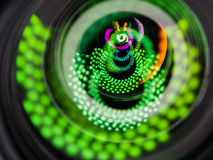 Close up image of a telephoto DSLR lens Royalty Free Stock Photography