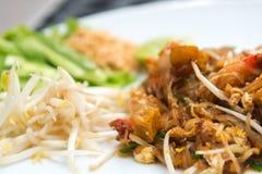 Close up image of Thai food Pad thai Royalty Free Stock Images