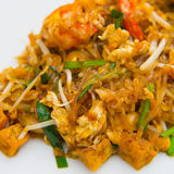 Close up image of Thai food Pad thai Stock Photos